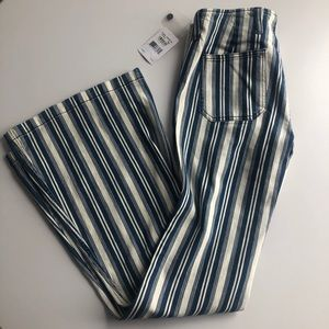 Free people blue and white flares